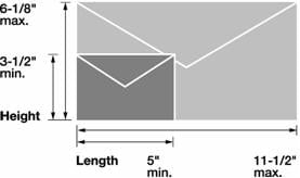 USPS Letter Size Mail Dimensions
